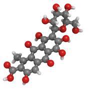 Carminic acid pigment molecule, chemical structure Stock Illustration