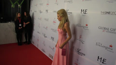 Pixie Lott on the red carpet at the Global Gift Gala in London. Stock Footage