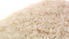 White rice pan 4 Stock Footage