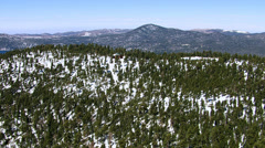 Aerial shot of Big Bear Lake, California Stock Footage