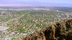 Aerial shot of Palm Springs California Stock Footage