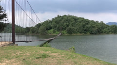 Bridge Is Normally 2/3M Above Water - F4 - stock footage