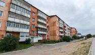 Stock Photo of soviet style apartment block