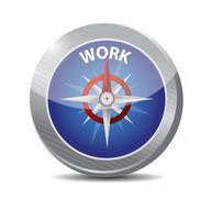 compass guide to work illustration design - stock illustration
