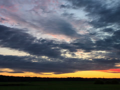 Cloud melts at sunset. Time Lapse. 4x3 - stock footage