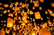 Stock Photo of sky lantern