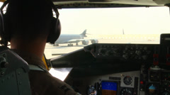 KC-135R Stratotanker Refuels B-1B Lancer Over Afghanistan Stock Footage