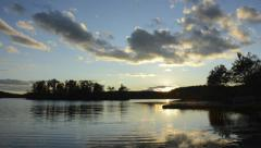 Beautiful sunset over lake time lapse HD 1080 Stock Footage
