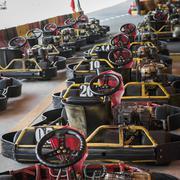 row of go-carts - stock photo