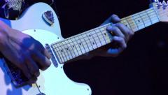 Electric Guitar at Rock Concert HD Stock Footage