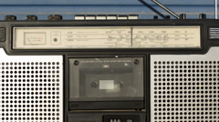 Ghettoblaster sequence, vintage radio Stock Footage