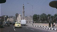 Mosque Minaret CAIRO EGYPT Street Scene 1970s Vintage 8mm Film Home Movie 7346 Stock Footage