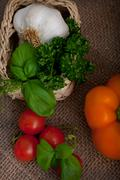 Stock Photo of fresh cooking ingredients and herbs