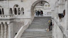 Fishermans Bastion Budapest Stock Footage