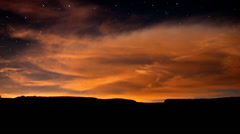 Time Lapse of Night Sky in Joshua Tree -  4K Stock Footage
