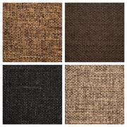 Set from four textile backgrounds - stock photo