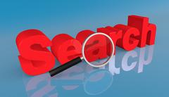 Stock Illustration of concept of search