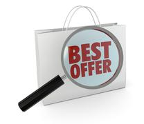 best offer - stock illustration