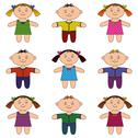 Stock Illustration of Children, boys and girls, set