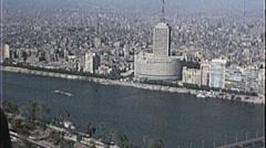 CAIRO EGYPT SKYLINE Cityscape NILE 1970s Vintage Film Home Movie 7352 Stock Footage