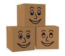carton boxes - stock illustration