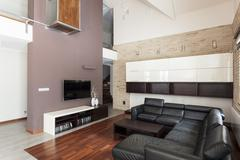 Stock Photo of grand design - spacious living room