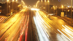 London Highway Time Lapse by Night Stock Footage