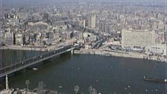 CAIRO EGYPT SKYLINE Cityscape NILE RIVER 1970s Vintage Film Home Movie 7353 Stock Footage