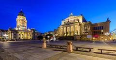 german cathedral and konzerthaus, berlin, germany - stock photo
