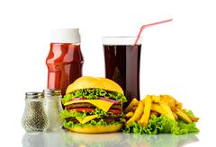 Hamburger menu Stock Photos