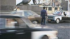 Dangerous Crosswalk CAIRO Street Scene 1970s Vintage Film Home Movie 7357 Stock Footage