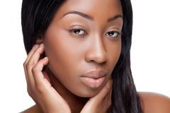 young black beauty - stock photo