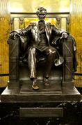 abraham lincoln on chair - stock photo