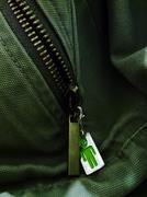 zipper puller - stock photo