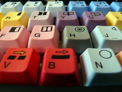 editor's keyboard - stock photo