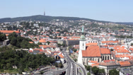 Stock Video Footage of View of the old castle in Bratislava.