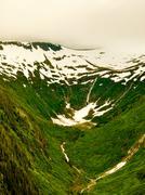 alaskan glaciers - stock photo