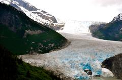 alaskan glaciers and mountains - stock photo
