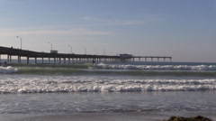 Surfers Next To Ocean Beach Pier 01 Stock Footage