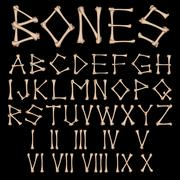 Bones Alphabet vector Stock Illustration