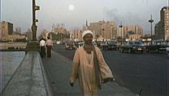 CAIRO EGYPT Street Scene 1970s Vintage 8mm Film Home Movie 7361 Stock Footage