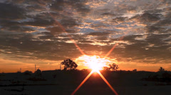Orange and Silver Sunrise Stock Footage