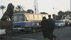 CAIRO EGYPT Street Scene 1970s Vintage 8mm Film Home Movie 7363 Stock Footage