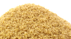 Coarse bulgur zoom in 3 Stock Footage