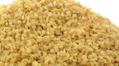 Stock Video Footage of Coarse bulgur zoom out 4