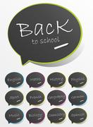 Back To School Speech Bubbles Stock Illustration