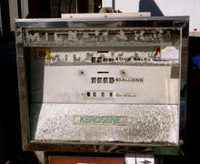 Antique kerosene dispenser Stock Photos