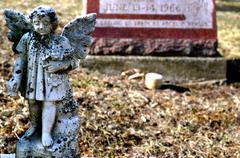Angel grave background Stock Photos