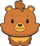 Baby Bear Smiling - stock illustration