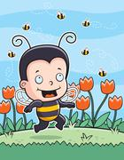 Stock Illustration of Bee Kid